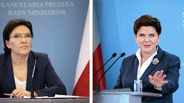 Premier rządu PO Ewa Kopacz (3 lutego 2015) i premier rządu PiS Beata Szydło (29 września 2016) - obie polityczki wywodzą się z podobnego środowiska społecznego i przeszły podobną drogę, ale tylko Beata Szydło jest powszechnie postrzegana jako przedstawicielka ludu - 'nasza Becia'.