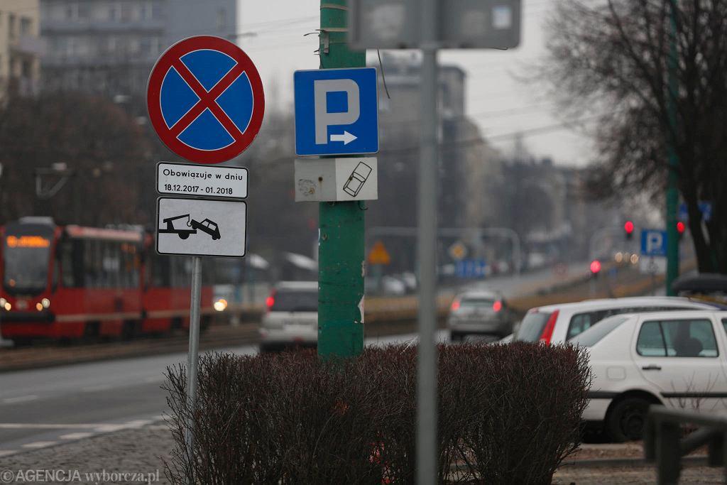 Katowice, zakaz zatrzymywania się przy Spodku