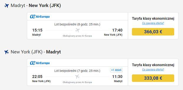 Znalezienie taniego biletu do USA w serwisie Ryanaira nie jest najprostsze.