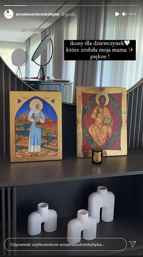 Ikony, które mama Anny Lewandowskiej podarowała wnuczkom