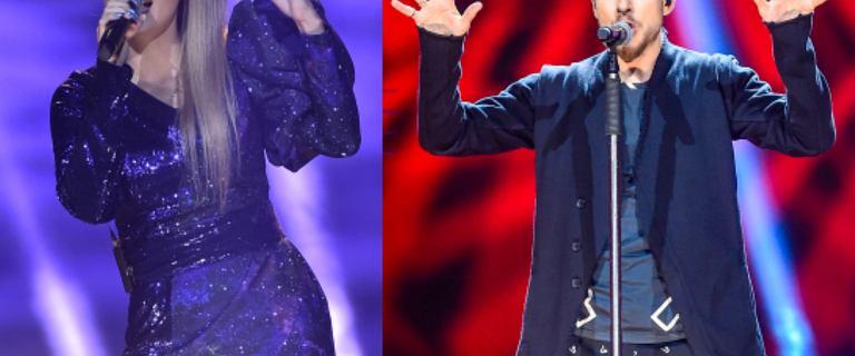 Koncert w Polsacie. Cleo w kreacji, którą miała na sobie w TVP i Mrozu z kapeluszem na głowie i zarostem na twarzy. Wow, ale się zmienił!