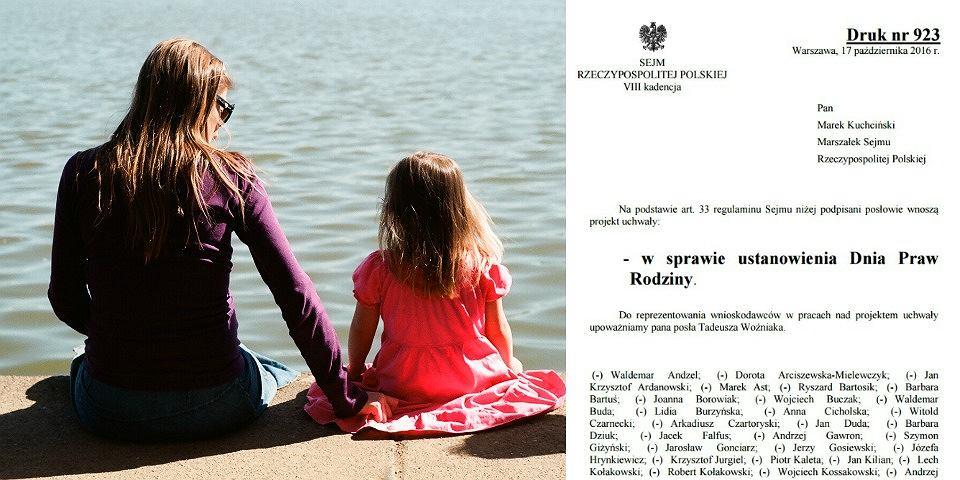 Posłowie PiS chcą uchwalić Dzień Praw Rodziny