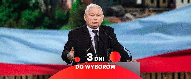Kaczyński wraca i straszy Trzaskowskim. Tusk ironizuje o słowach Dudy