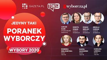 Poranek wyborczy na Gazeta.pl, Wyborcza.pl i Tokfm.pl