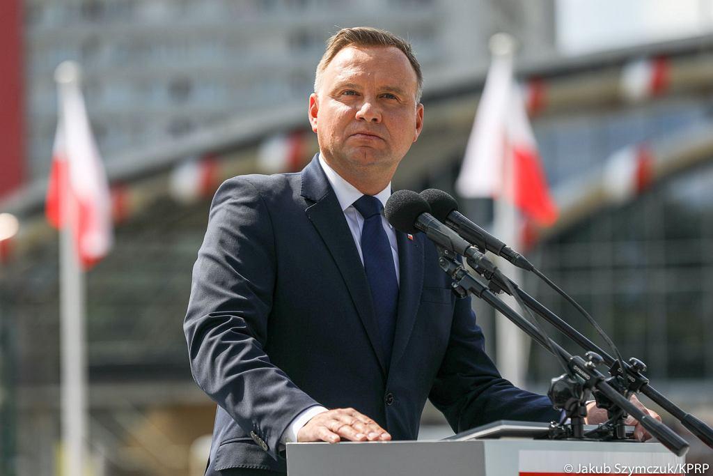 Andrzej Duda na defiladzie 'Wierni Polsce'