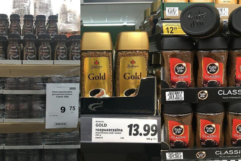 Ceny kaw w Mere, Lidlu i Biedronce