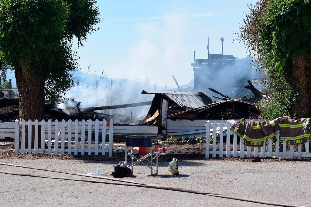 Kanada. Spalony i doszczętnie zniszczony kościół w regionie Kolumbii Brytyjskiej