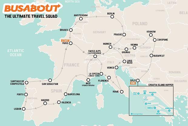 Szczęśliwi wybrańcy odwiedzą 47 europejskich miast. W tym Barcelonę, Paryż i Kraków.