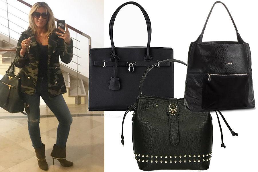 Duże czarne torebki