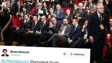 Andrzej Duda na Krajowym Zjeździe Adwokatury