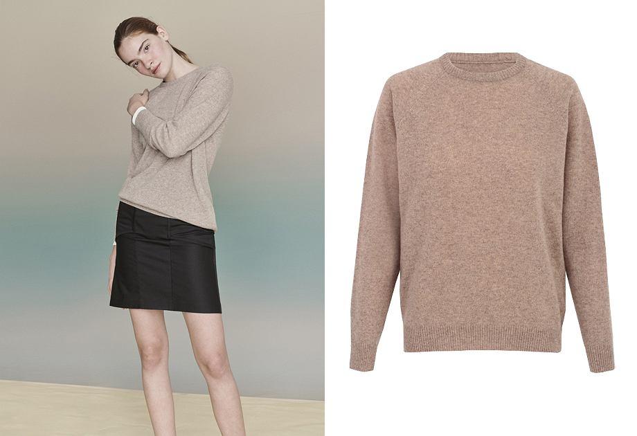 Mieszanka wełny i kaszmiru to dobry skład swetra z kolekcji polskiej marki Nago
