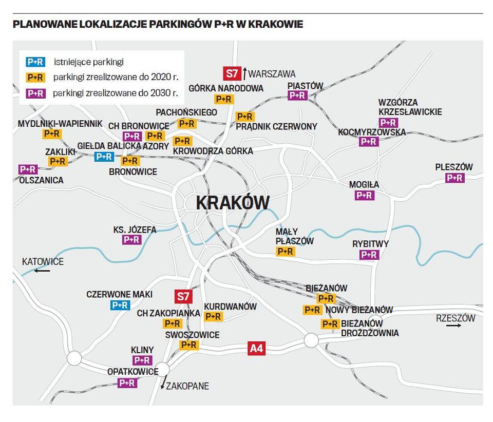 Nowe Parkingi P R W Krakowie Gdzie Szykuja Sie Przesiadki Mapa