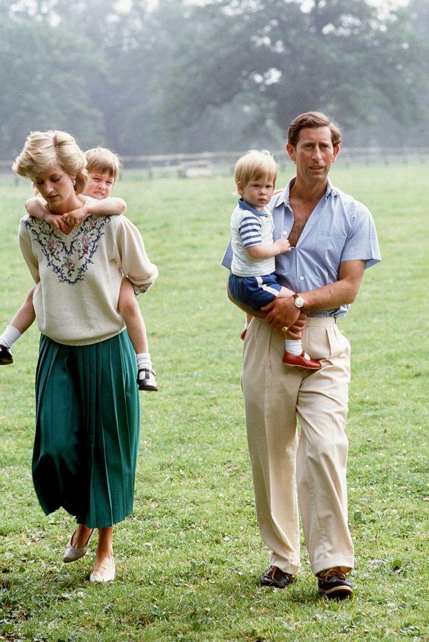Księżna Diana, książę William, książę Harry, książę Charles