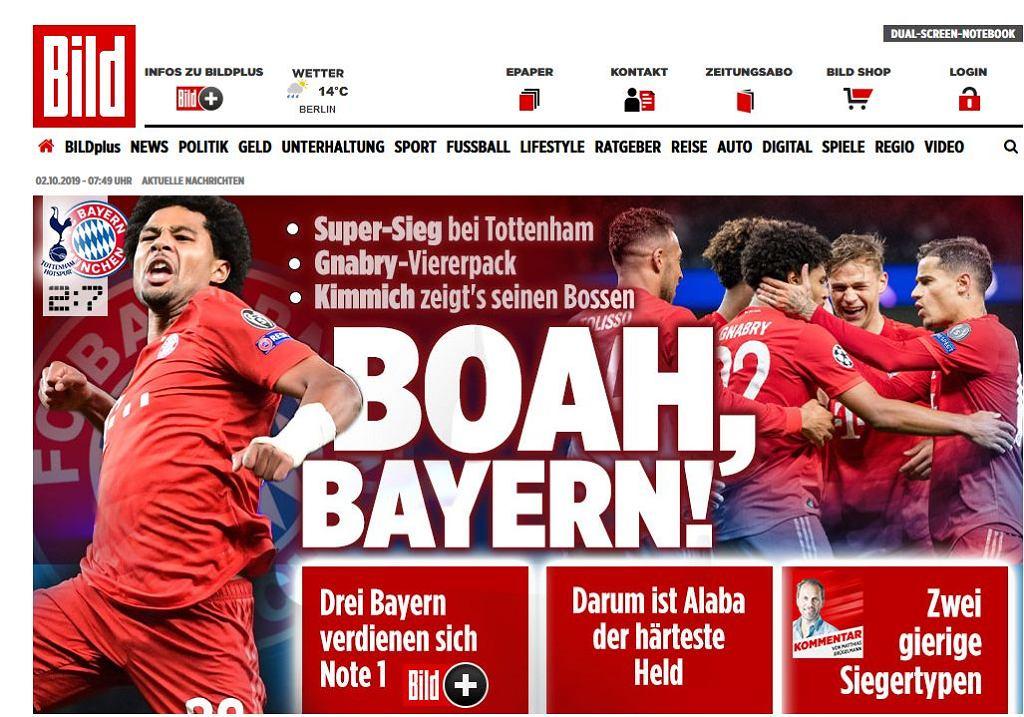 Bild po meczu Tottenhamu z Bayernem
