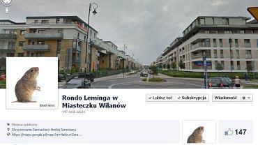 """Profil """"Rondo Leminga w Miasteczku Wilanów"""" na Facebooku"""