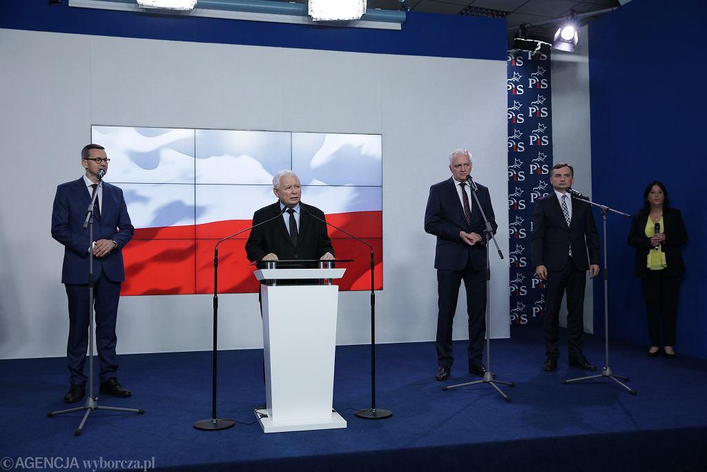 Oświadczenie prezesów PiS, Solidarnej Polski i Porozumienia ws. umowy koalicyjnej