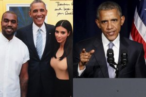 Kanye West, Kim Kardashian i Barack Obama