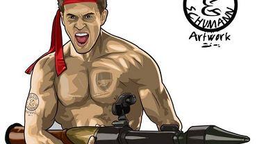 Aaron Ramsey jako Rambo