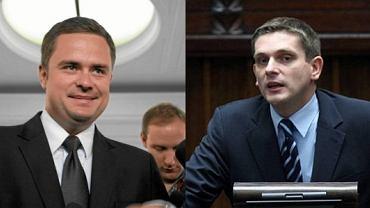 Adam Hofman i Bartosz Kownacki z PiS