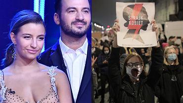 """""""Taniec z Gwiazdami"""". Julia Wieniawa wsparła protest kobiet. Zrobiła to nie tylko za pomocą słów"""