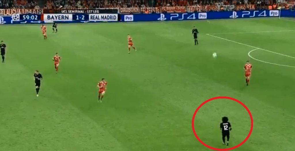 Marcelo przyjmuje piłkę w nieprawdopodobny sposób