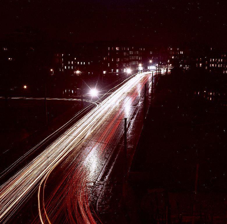 Włodzimierz Kałdowski, Mosty Uniwersyteckie nocą, 1959 r. / Wodzimierz Kadowski/materiały prasowe
