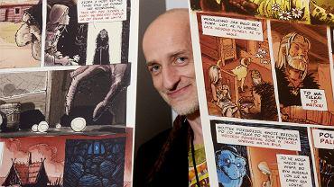 Jarosław Gach, rysownik, twórca komiksów z serii Legendy warmińskie