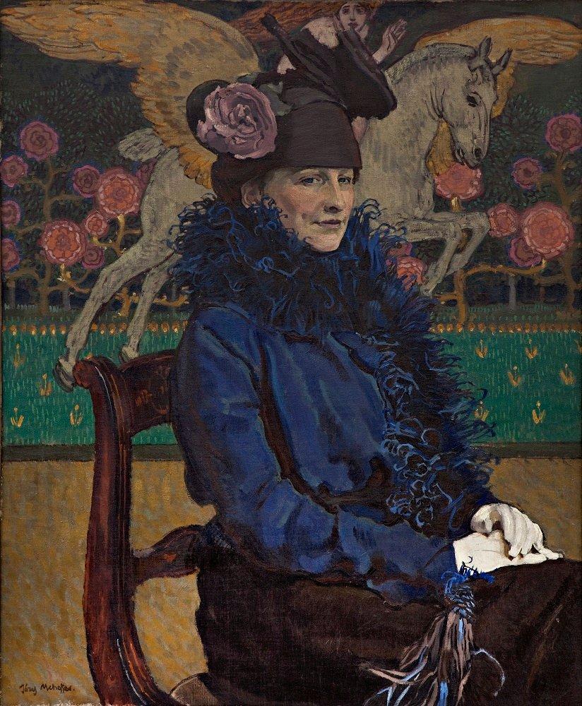 Józef Mehoffer, Portret żony artysty z pegazem, 1913 / materiały prasowe