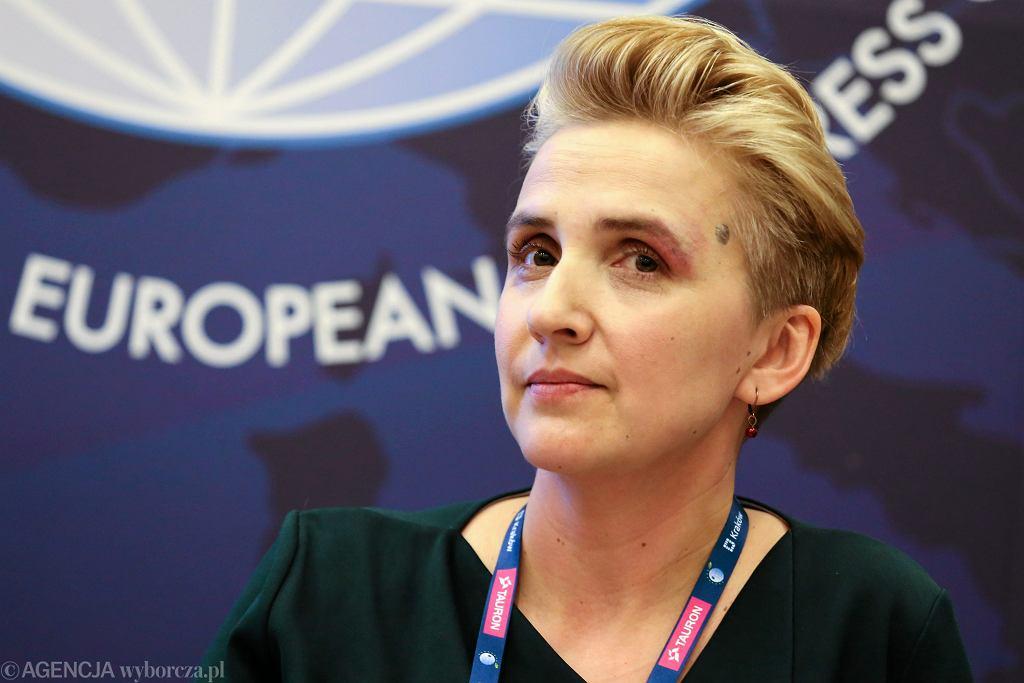 Posłanka Joanna Scheuring-Wielgus podczas Europejskiego Kongresu Samorządów. Kraków, 27 marca 2017