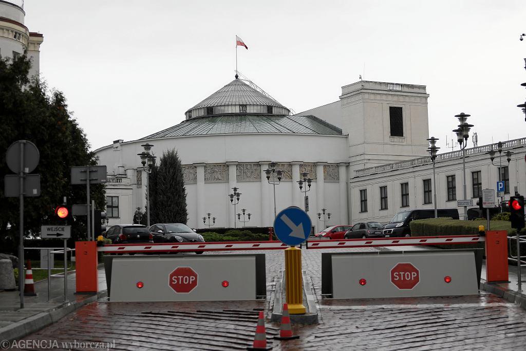 Sejm - wjazd od ul. Górnośląskiej