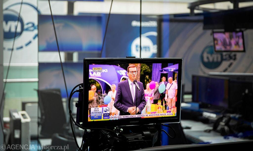 Studio TVN24 w Warszawie, 17 sierpnia 2021 r.