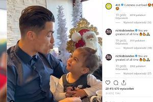 """Cristiano Ronaldo na nagraniu z córką. """"Jak nie zakochać się w takiej słodkiej księżniczce?"""""""