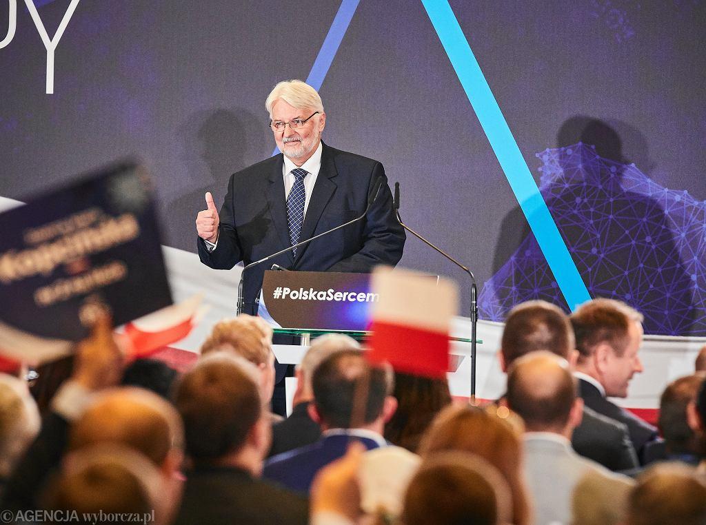 Witold Waszczykowski podczas konwencji PiS. Łódź, 17 września 2019 r.