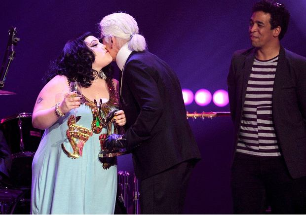 Karl Lagerfeld i Beth Ditto