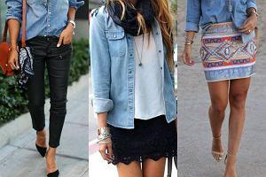 Damska koszula jeansowa jeans kokardą Shein must have boho