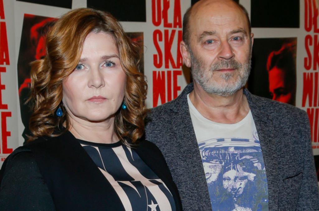 Grażyna Błęcka-Kolska i Jan Jakub Kolski na premierze filmu 'Ułaskawienie'