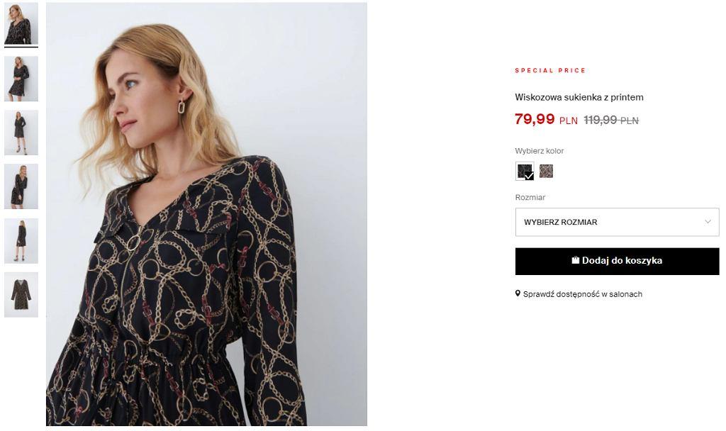 ciemna sukienka