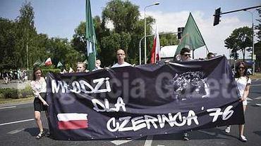 Marsz narodowców zorganizowane w Radomiu w rocznicę Czerwca'76