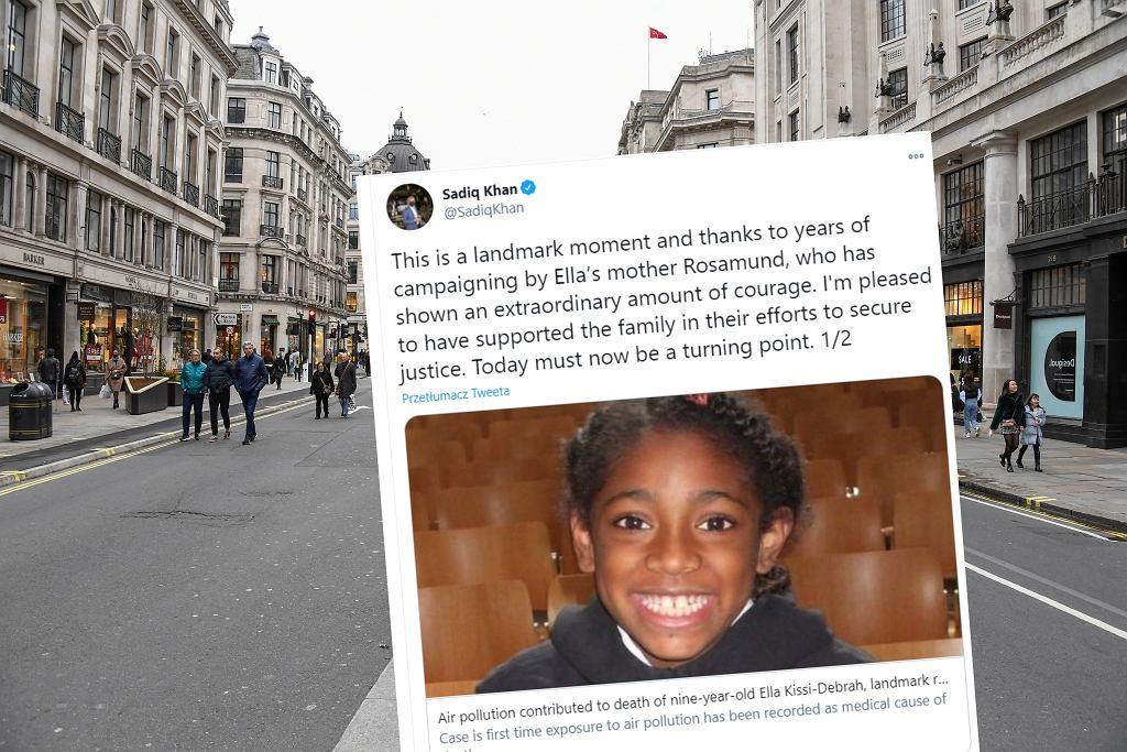 Sąd potwierdził, że 9-letnia Ella zmarła z powodu zanieczyszczenia powietrza