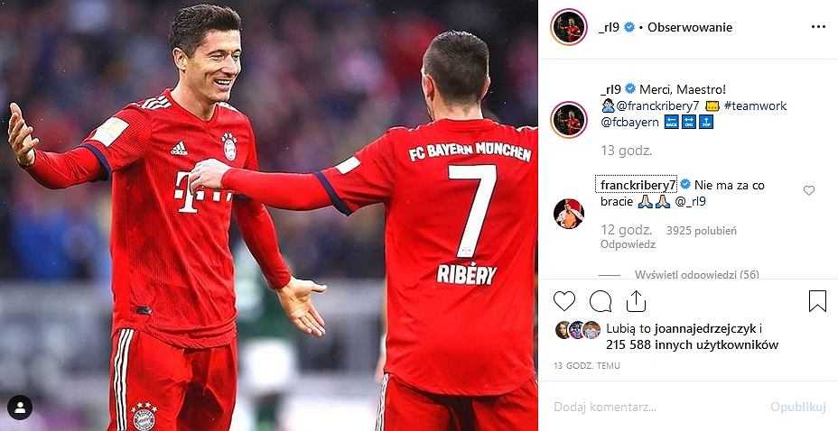 Ribery odpowiada Lewandowskiemu po polsku
