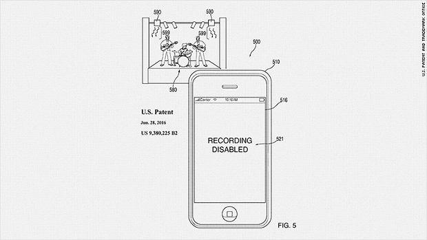 Szkic z wniosku patentowego Apple