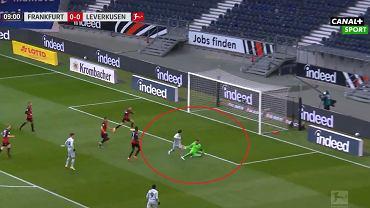 Gol Nadiema Amirego w meczu Eintrach - Bayer