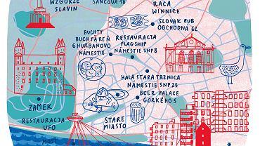 Mapa Bratysławy