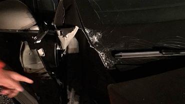 Tesla X uszkodzona w wypadku