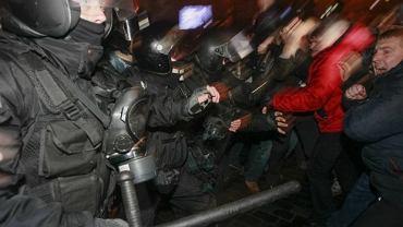 Starcia manifestantów z milicją
