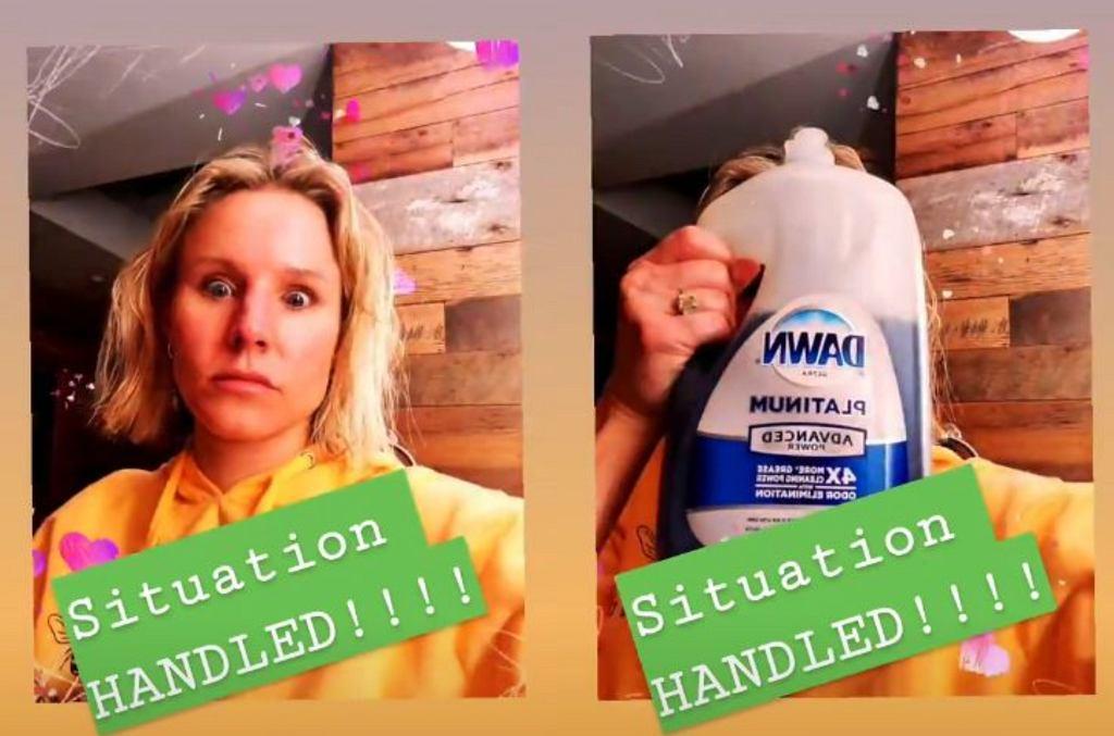 Kristen Bell umyła córce włosy płynem do naczyń