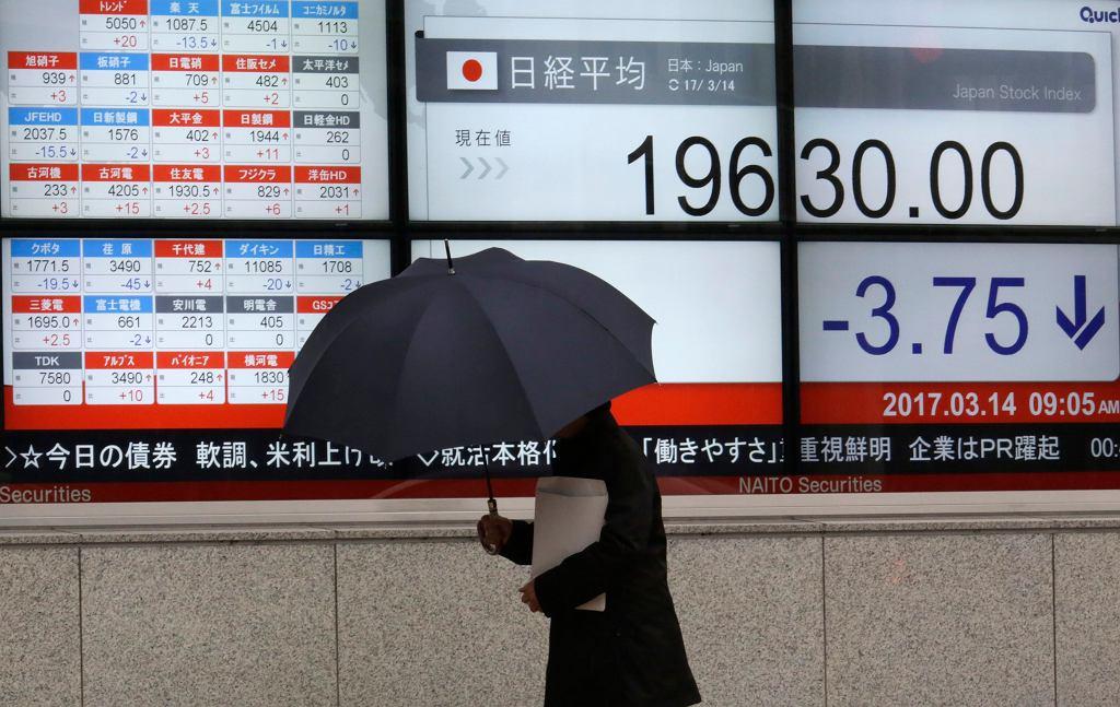 Spadek na japońskiej giełdzie