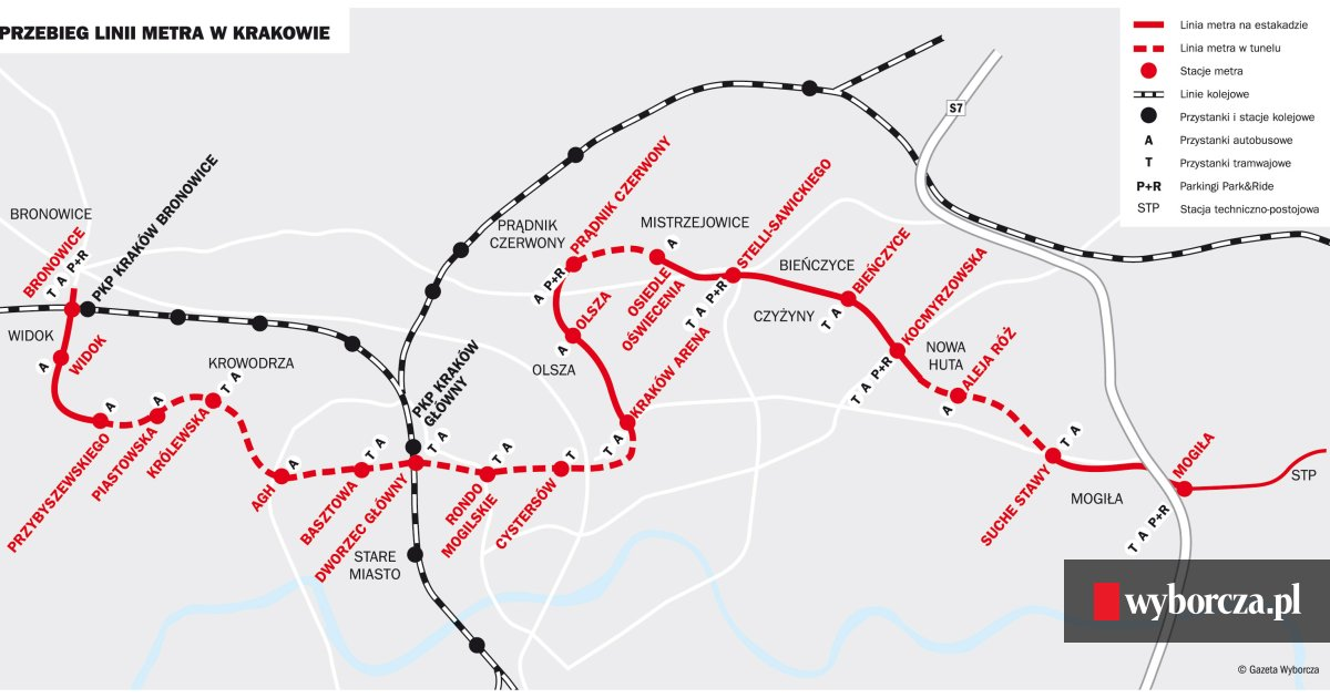 Metro W Krakowie Projekt Obietnice I Watpliwosci Mapa