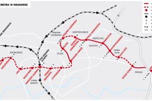 Metro w Krakowie. Projekt, obietnice i wątpliwości [MAPA]
