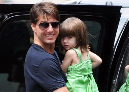 Tom Cruise with his daughter Suri seen leaving their apartment and board a helicopter in midtown New York City. <P> <B>Ref: SPL45711  250808  </B><br> Picture by: Ron Asadorian / Splash<br> Pictured: Tom Cruise with daughter Suri Cruise </P><P> <B>Splash News and Pictures</B><br> Los Angeles: 310-821-2666<br> New York: 212-619-2666<br> London: 870-934-2666<br> photodesk@splashnews.com<br> </P>